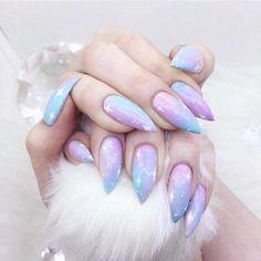 Pastel Galaxy Dreams nails - 12 Unique trending nail art designs for 2017