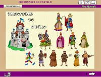 A   ESCOLA   DE   BARCIELA: PERSONAXES DO CASTELO (Actividad Lim)