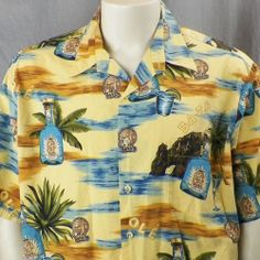 Tori Richard Cabo Wabo Tequila Hawaiian Shirt XL Sammy Hagar Cocktail Shaker #ToriRichard #Hawaiian