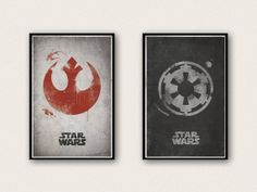 Star Wars Rebel Alliance and Imperial Empire Poster Set