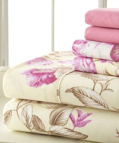 Pink Palazzo Home Luxurious Sheet Set by Spirit Linen #zulily #zulilyfinds