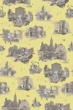 Timorous Beasties Fabric - New York Toile