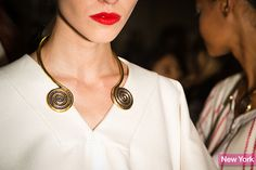 fashion weeks, coil necklac, accessori, 2014trend chocker, new york fashion, 2014 jewelri