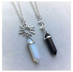 Bff Necklaces, Best Friend Necklaces, Best Friend Jewelry, Friendship Necklaces, Cute Jewelry, Jewelry Accessories, Moon Jewelry, Hippie Jewelry, Jewelry Ideas