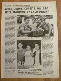 stand by me movie script screenplay autographed stephen king  stand by me river phoenix wil wheaton corey feldman vintage clipping