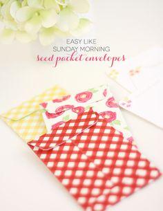 Easy Like Sunday Morning: Seed Packet Envelopes - by Damask Love