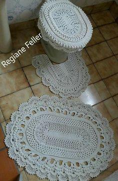 Crochet Hats, Farmhouse Rugs, Bathroom Mat, Kitchen Playsets, Garland, Crochet Carpet, Bathrooms, Bedrooms, Tejidos