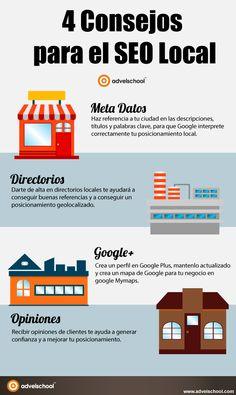 4 consejos para el SEO Local #infografia #infographic #seo | TICs y Formación
