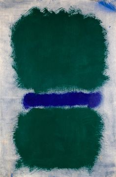 "dailyrothko: """"Mark Rothko, Untitled (Green Divided by Blue), 1968 "" """