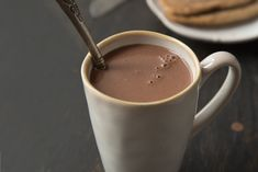 Chocolate Quente ♥ GlutenFree com paixão Portuguese Recipes, Cookbook Recipes, Portugal, Gluten Free, Healthy, Tableware, Chocolate Crack, Hot Chocolate, Cocoa