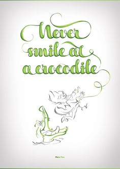 Disney Typography Series: Captain Hook Never smile at a crocodile.