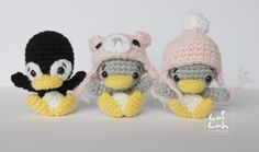 Ami-Domi Land: вяжем амигуруми: Малыши пингвины амигуруми
