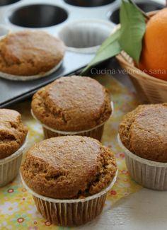 Muffin alle carote, mandorle e arancia