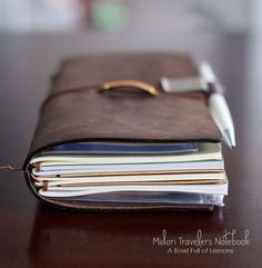 Midori Travelers Notebook - A must have for documenting all your travels!