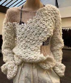 Knitwear Fashion, Knit Fashion, Moda Crochet, Knit Crochet, Knitting Designs, Knitting Patterns, Cardigans For Women, Diy Clothes, Hand Knitting
