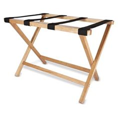 Luggage Rack at Groskopfs Fine Luggage and Gifts.  Complete your guest bedroom with a sturdy luggage rack. Features strong nylon straps. Folds away for storage. Makes a great gift!