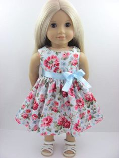 Summer+Roses+Doll+Dress+and+Sash+for+the+by+TheWhimsicalDoll2,+$10.00