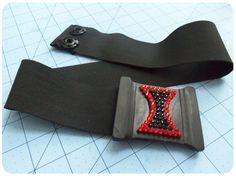 DIY Friday: Elastic Belt W/ Rhinestones Black Widow Edition - Black Belt - Ideas of Black Belt - DIY Friday: Elastic Belt W/ Rhinestones Black Widow Edition