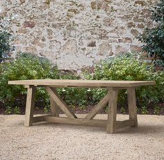 """90"""" Provence Beam Dining Table, I'm going to make it myself with old barn wood! So excited!"""
