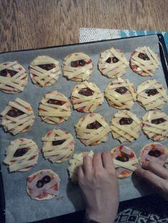 Halloween mumie pizza