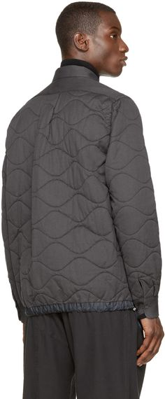 Sacai Grey Quilted Jacket