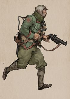 ArtStation - Fighting in trenches, yuanyuan L Character Concept, Character Art, Concept Art, Character Design, Space Knight, Valkyria Chronicles, Story Arc, Alternate History, Retro Futuristic