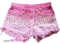 High Waisted Pink Ombre Silver and Gold Star by SheFitzRetro, $45.00