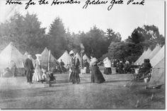 1906 San Francisco earthquake, Golden Gate Park, refugee tents