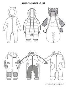 technical flats / kids clothes / girls / boys / baby / babies / blouse / shirt / t-shirt / jacket / cardigan / dress / skirt / playsu...