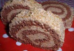 Ořechová roláda s piškotovo-kávovou náplní Czech Desserts, Cake Roll Recipes, Wonderful Recipe, Polish Recipes, Rolls Recipe, Nutella, Deserts, Food And Drink, Cooking Recipes