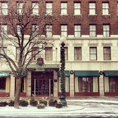 Jefferson Clinton Hotel in Armory Square, Syracuse New York.
