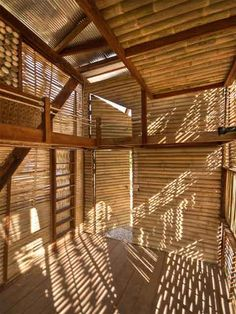 The architects at TYIN Tegnestue – a non-profit group of student architects – designed these unusual wood prefab houses, Soe Ker Tie Hias ,. Bamboo Building, Natural Building, Building A House, Bali, Timber Architecture, Architecture Design, Beautiful Houses Interior, Beautiful Homes, Bungalow