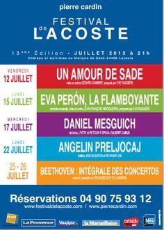 Le festival de Lacoste. Du 12 au 26 juillet 2013 à Paris08.