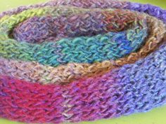 Autumn Scarf Beautiful Multicolor Stripes in by jamiesierraknits, $25.00