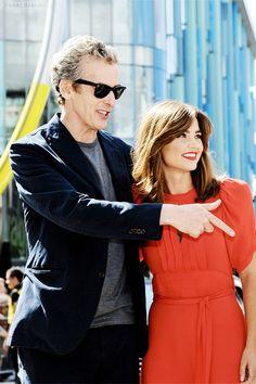 Peter Capaldi & Jenna Coleman.