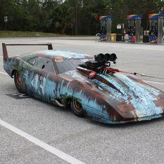 Crazy looking drag car.