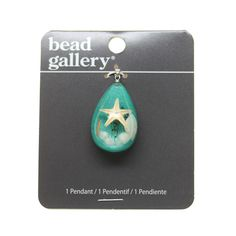 Buy the Bead Gallery® Seashore Acrylic Drop Pendant at Michaels.com. Slide this Bead Gallery® Seashore Drop Pendant along a silver ball chain to make a dainty necklace.