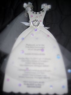Invitations that I made for my Granddaughters First Holy Communion.
