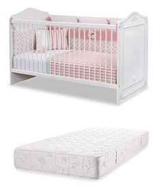 1 bed early childhood bedroom Baby bed Safety cage with poles Cot Bed With Drawer, Bed With Drawers, Baby Mattress, Junior Bed, Playpen, Baby Bedroom, Nursery Furniture, Nursery Bedding, Early Childhood