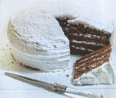 Τούρτα σοκολάτα τζίντζερ με λευκό γλάσο