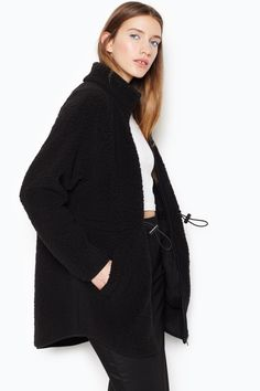 Now, here`s a jacket that will keep people hugging you all day long! They won`t want to let go of this fleece zip, especially when you show them the cinch waist and thumb holes…