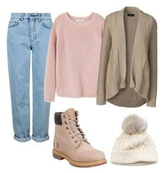 """""""ootd/fall/cold"""" by shopaholic02 on Polyvore featuring Topshop, MANGO, Lands' End, SIJJL and Timberland"""
