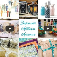 Artisan Avenue is like a virtual art fair that gets delivered right to your inbox. Learn more about this monthly newsletter featuring deals on art supplies, creative project ideas, free downloads, and top-quality DIY videos [On the Blog].