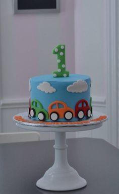 car cake, little cars cake, smash cake. little boy cake, first birthday cake, birthday cake #Birthday #boy #Cake #car #cars #smash