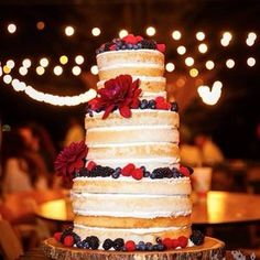 Naked wedding cakes say it best of all. | All The Boho Wedding Inspiration You Could Possibly Need