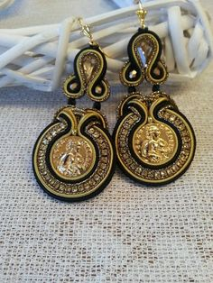 Soutache Necklace, Tassel Earrings, Statement Earrings, Drop Earrings, Plastic Canvas Tissue Boxes, Plastic Canvas Patterns, Boho Jewelry, Fashion Jewelry, Polymer Clay Charms