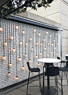 48 Most Beautiful Outdoor Lighting Ideas to Inspire You - GODIYGO.COM terracede Most Beautiful Outdoor Lighting Ideas to Inspire You - GODIYGO.COM terracedesign Outdoor lighting can create a good difference to your house, and Backyard Patio, Backyard Landscaping, Landscaping Ideas, Backyard Privacy, Terrasse Design, Open House Plans, Outdoor Walls, Outdoor Rooms, Modern Outdoor Wall Art