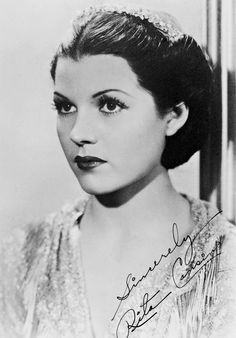 A young Rita before she was Rita Hayworth: signing this photo with her real name, Rita Cansino