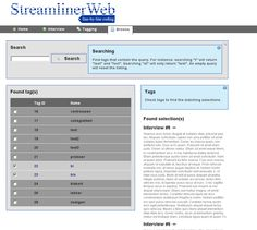 Webapplicatie StreamlinerWeb (interview coding app)    Try it:  http://demo.pimschaaf.nl/streamlinerweb  Buy it: $10