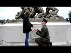 After Boot Camp Graduation, Marine Proposes to Girlfriend in Front of Iwo Jima Statue